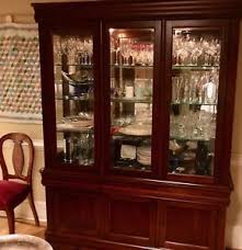 glass shelves for china cabinet hutch china cabinet lighted glass shelves mirrored broyhill ebay