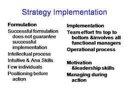 functional managers strategy implementation authorstream