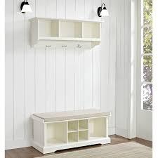 wooden entry way shelf furniture