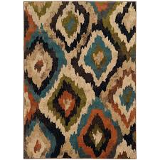 Orange And Brown Area Rugs Oriental Weavers Emerson 4875a Blue Brown Area Rug Rugsale Com