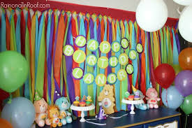 Rainbow Party Decorations Care Bears And Rainbow Party