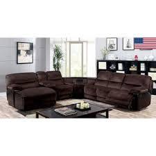 furniture of america modern recliner sectional sofa push back