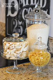Canisters For The Kitchen by Decorating With Glass Canisters Glass Canisters Rice Pasta And
