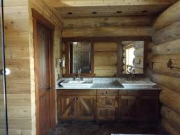 custom log cabin kitchen and bath fine homebuilding