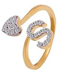 s ring in gold rings women jewellery