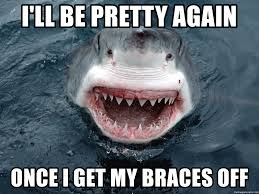 Braces Off Meme - i ll be pretty again once i get my braces off insanity shark