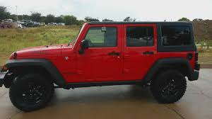 jeep willys truck lifted video of all new firecracker red 2016 jeep willys wheeler edition