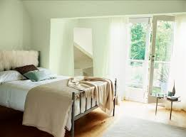 pale green bedroom pained with crown earthbalance emulsion in