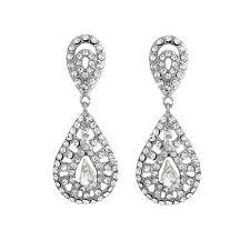 clip on earrings uk clip on vintage bridal earrings zaphira bridal