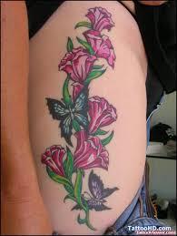 vine flowers and butterflies tattoos tattoo viewer com