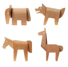 animal wood areaware dovetail animals wood puzzle toys modern toys
