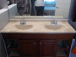 bathroom sink cabinets with marble top refinishing the bathroom vanity top part 1 julepstyle