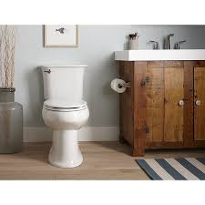 Kohler Toilets Showers Sinks Faucets And More For Bathroom Kohler Cavata White Watersense Dual Flush Chair Height 2 Piece