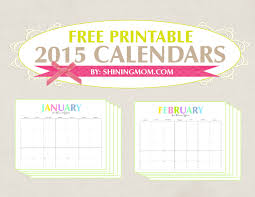 6 best images of colorful 2015 monthly calendar free pdf printable