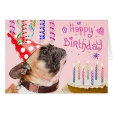pug greeting cards zazzle com au