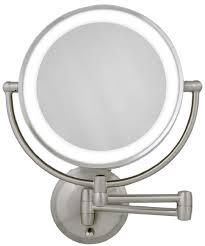 Cordless Lighted Makeup Mirror Wall Mount Makeup Mirrors