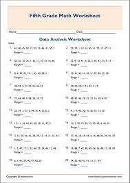 mean median mode range printable worksheets archives edumonitor