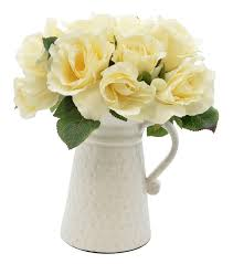 pitcher of roses august grove classic pitcher floral arrangement in vase