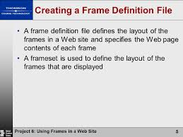 layout techniques definition html concepts and techniques fourth edition project 6 using frames