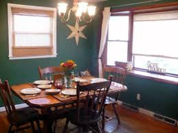 country dining room painting idea hunter green wall color