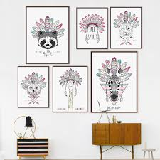 Indian Home Decor Pictures Aliexpress Com Buy Indian Animals Art Print Poster Horse Zebra