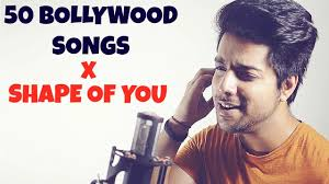 Mash Up Songs 50 Bollywood Songs On One Beat Shape Of You Mashup Cover