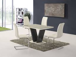 Glass Dining Table 6 Chairs Ga Vico Gloss Grey Glass Top Designer 160cm Dining Set 4 6 Grey