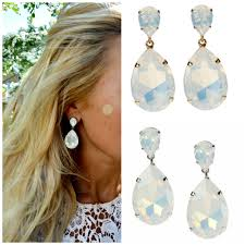 white opal crystal white opal earrings image collections jewelry design examples