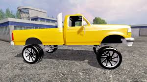 Ford F 150 Yellow Truck - f 150 v1 0 for farming simulator 2015