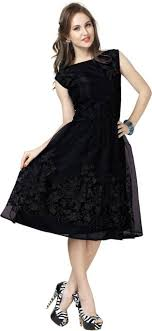 black dress elevate women women fit and flare black dress buy black elevate