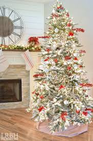 flocked tree picture ideas prod 1706310512