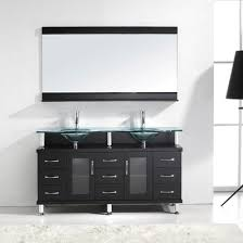 Bathroom Vanities Maryland 59 Modern Sink Bathroom Vanity Clear Top In Espresso