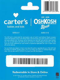 gift card online s oshkosh b gosh gift card 25 gift cards