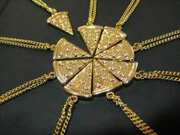 gold best friends necklace images Jewels pizza necklace gold gold chain chain gold necklace jpg