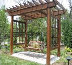 Garden Treasures Pergola Gazebo by Garden Treasures Pergola With Swing Design Garden Landscape