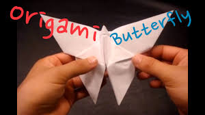 how to make an origami butterfly youtube