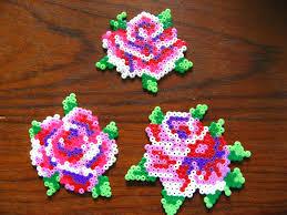 rose flower coasters hama beads by oklyous u0027 creative world