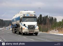 volvo white truck loukku finland november 5 2016 white conventional volvo nh12