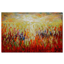 Kitchen Wall Decorations by Abstract Canvas Art Oil Painting Large Painting Kitchen Wall