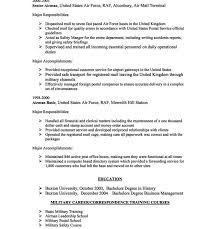 Customer Service On Resume 100 Military Service On Resume My Familyessay 1 Page Mba Resume