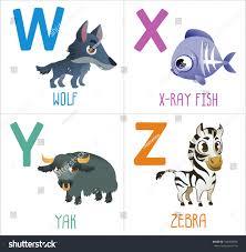 cute cartoon animals alphabet kids funny stock vector 314369876