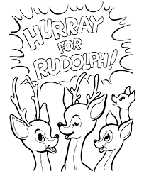 rudolph reindeer colouring pages 2 coloring