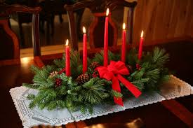 decorations elegant red candle table cemterpiece decoration with