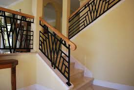 Painting Banister Spindles Decor U0026 Tips Charming Custom Iron Stair Railing With Wood