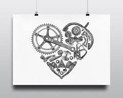 cycling etsy bicycle art print bike vintage campagnolo love