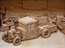 Vintage Ford Truck Art - rustic wall decor 1932 ford model b pickup truck wood