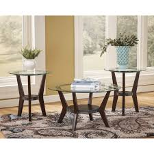 glass coffee table set of 3 coffee table pretty buy ashley furniture t113 13 exeter 3 piece