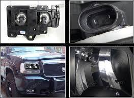 cadillac escalade headlights 99 00 cadillac escalade black style reflector headlights
