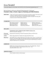 marketing resume business pinterest marketing resume