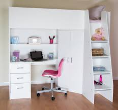 Kids Beds With Desk by High Sleeper Cabin Bed With Desk And Wardrobe Calder M2270